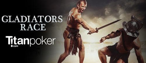 """Акция """"Гонка гладиаторов (Gladiators Race)"""" на Titan poker для игроков VIP-уровня."""