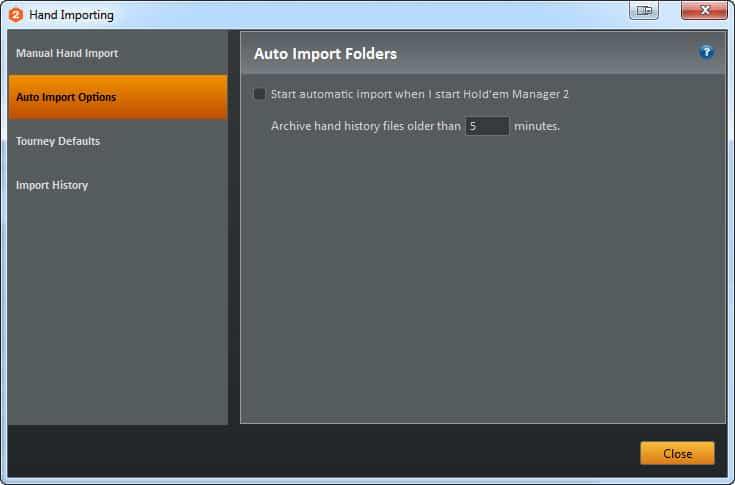 Авто импорт истории рук в Holdem Manager 2 для Titan Poker.