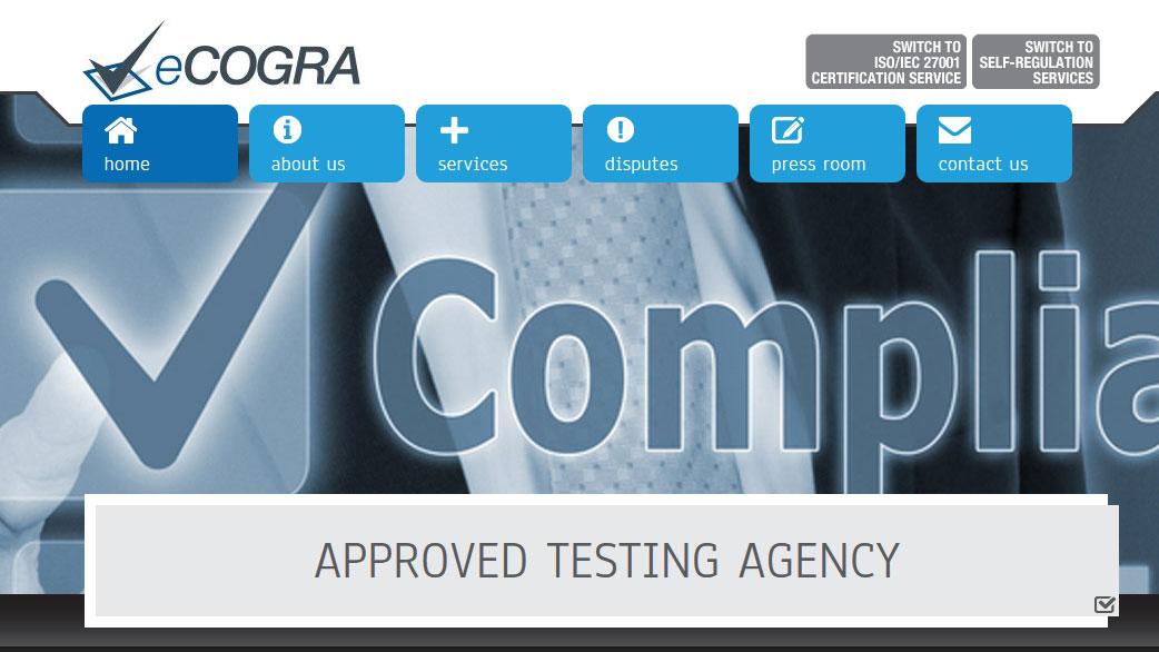 Сайт eCOGRA.