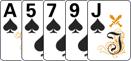 Флэш в комбинации в покер.