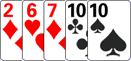 Одна пара в комбинации в покер.