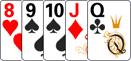 Стрит в комбинации в покер.