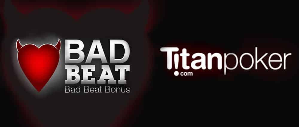 Бонус Bad Beat за проигрыш на Titan poker.