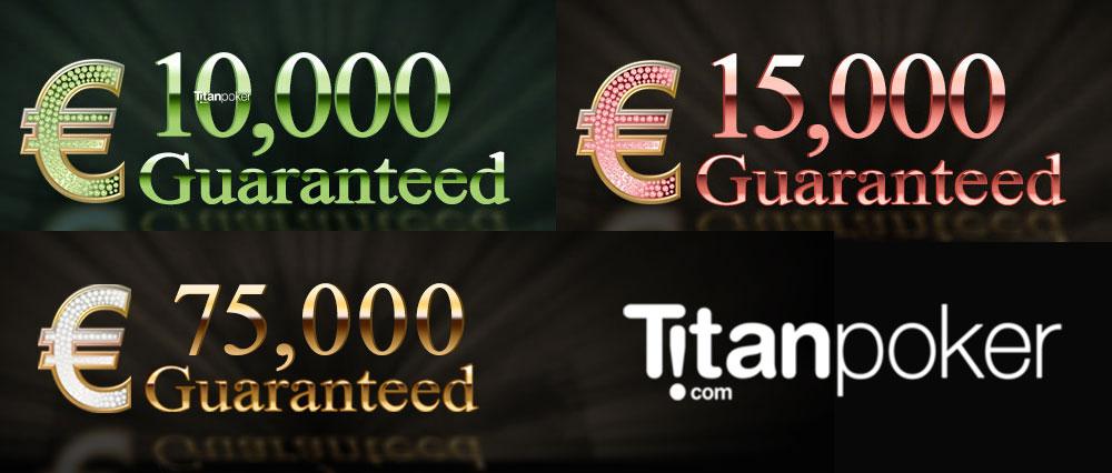 Турниры на Titan poker за 1 доллар каждую пятницу, субботу и воскресение с гарантией €10000, €15000 и €75000.