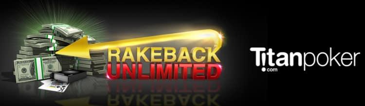 Акция Rakeback Unlimited рума Titan poker с неограниченным рейкбеком.