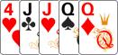 Две пары в комбинации в покер.